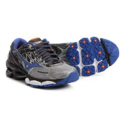 Tênis Mizuno Wave Creation 19 Masculino Cinza/Azul - 4139265.1221